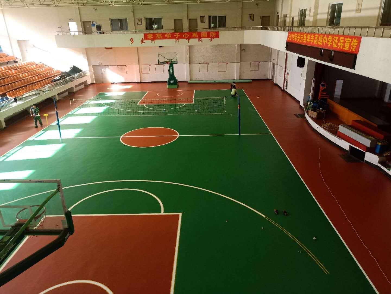 台州球场弹性地面施工工艺安装