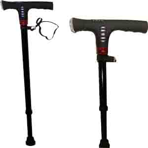 照明闪光报警收音可调拐杖